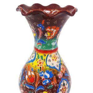 S1-6 Turkish Ceramic  Handmade Handpainted Vase